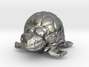 Turtle Miniature in Fine Detail Polished Silver
