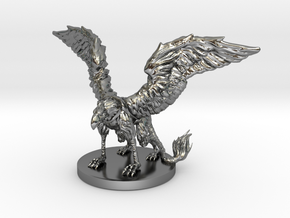 Griffon Miniature in Fine Detail Polished Silver