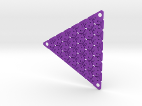 3D Fabric Test Sample 1 in Purple Processed Versatile Plastic