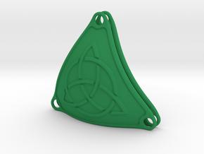 Bikini Plate Pair (Circle Triquetra Pattern) in Green Processed Versatile Plastic