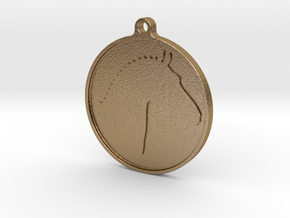 Branded Pendant (TheMarketingsmith) in Polished Gold Steel