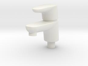 Miniature Dollhouse Bathroom Faucet 1/12 in White Natural Versatile Plastic