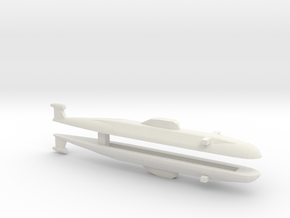 Victor Class SSN x 2, 1/2400 in White Natural Versatile Plastic