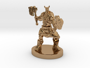 Orc Warrior Figurine in Polished Brass