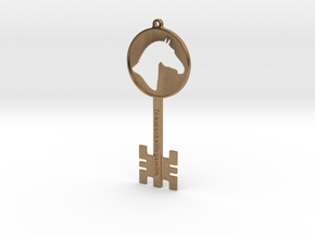 Branded Key Pendant (TheMarketingsmith) in Natural Brass