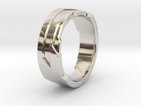 Ring Size C in Rhodium Plated Brass