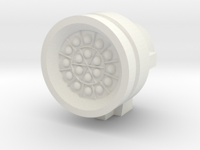 Missile Pod - Large Round in White Natural Versatile Plastic