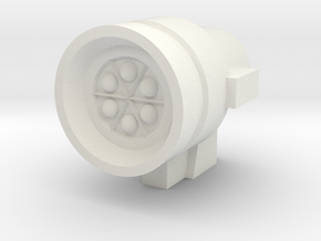Missile Pod - Small Round in White Strong & Flexible