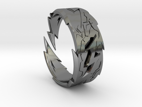 Power : Zeus Ring Size 13 in Fine Detail Polished Silver