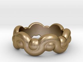 Strange Fantasy Ring 15 - Italian Size 15 in Polished Gold Steel
