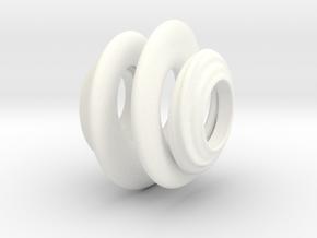 Organic Spiral for Pandora sized Bracelets in White Processed Versatile Plastic