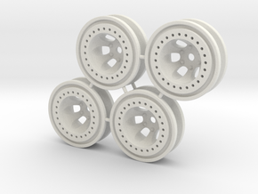 "Bead-lock 1/4"" offset 7mm hex - Losi McRC/Trekker in White Natural Versatile Plastic"