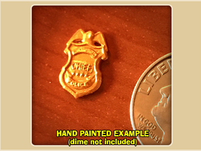 Police Chief Badge in Smoothest Fine Detail Plastic
