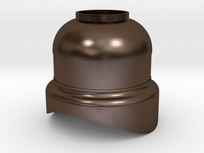 No. 23 - Steam Dome Cover - REV .625 Plus 1% in Polished Bronze Steel