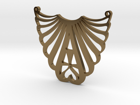 LUVME pendant in Polished Bronze