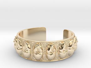 FACELET  in 14K Yellow Gold
