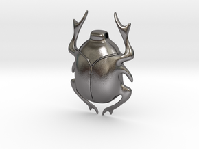 SCARAB pendant  in Polished Nickel Steel
