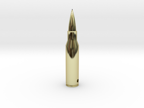 Bullet Pendant in 18k Gold Plated Brass