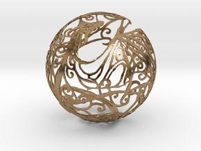 Dragon Sphere Ornament in Natural Brass