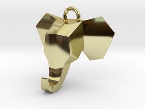Elephant Pendant in 18k Gold