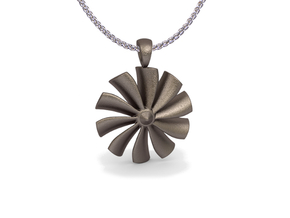 Turbine pendant (cm 2,6) in Stainless Steel