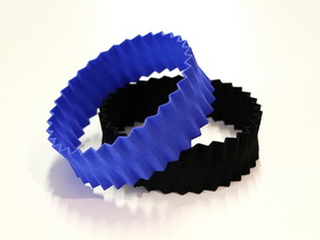 Pleats Bracelet in Blue Strong & Flexible Polished