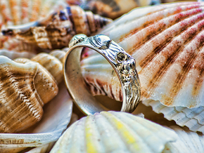 Sea Shell Ring 1 - US-Size 12 (21.49 mm) in Polished Silver