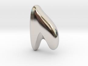 RUNE - U in Rhodium Plated Brass