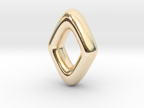 RUNE - Z in 14k Gold Plated Brass