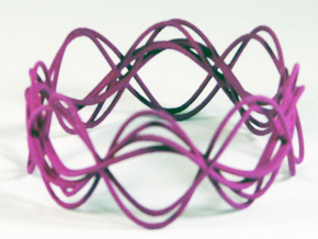 Wave Bangle B25M in Purple Processed Versatile Plastic