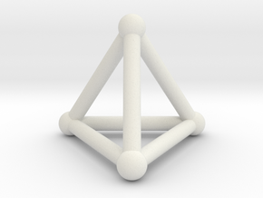0277 Tetrahedron V&E (S&B) (a=10mm) in White Natural Versatile Plastic