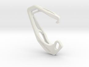 Cobra X Carabiner *Medium* DH004SW in White Natural Versatile Plastic