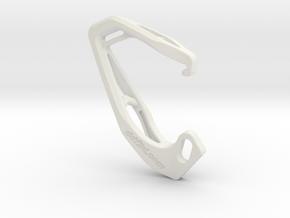 Cobra X Carabiner *Small* DH006SW in White Natural Versatile Plastic