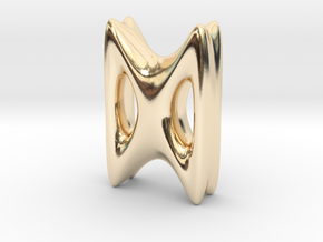 RUNE - D in 14k Gold Plated Brass