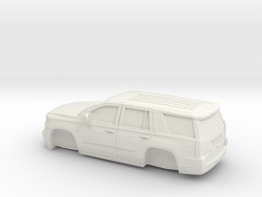 1/64 2015 Chevrolet Tahoe Without Tires in White Natural Versatile Plastic