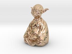 YodaBudda in 14k Rose Gold Plated Brass