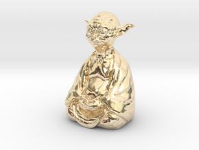 YodaBudda in 14K Yellow Gold