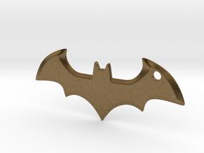 Batman logo keychain in Natural Bronze