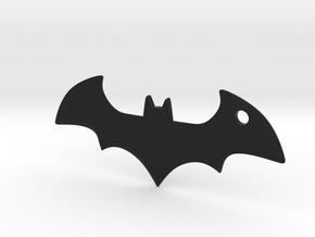 Batman logo keychain in Black Natural Versatile Plastic