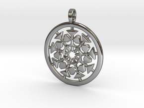 AETHER EXPLOSION in Fine Detail Polished Silver