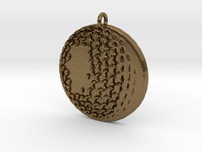 Golfball in Raw Bronze