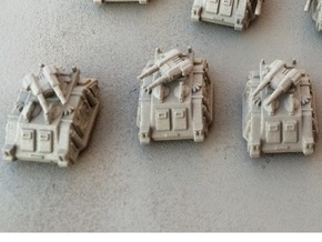 6mm Sci-Fi Twin-Gun Turrets (12pcs) in Smooth Fine Detail Plastic