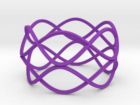 Nordic Bracelet in Purple Strong & Flexible Polished