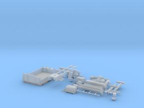 Zetros Aufbau Pritsche mit Kran in Smooth Fine Detail Plastic