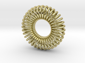 Torus Pendant 23mm in 18k Gold Plated Brass