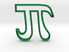 Pi Cookie Cutter in Green Strong & Flexible Polished