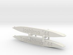IJN Yasoshima & IJN Ioshima 1/1800  in White Natural Versatile Plastic