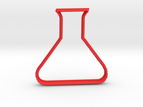 Flask Cookie Cutter in Red Strong & Flexible Polished