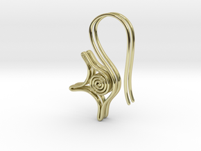Spiral earrings in 18k Gold