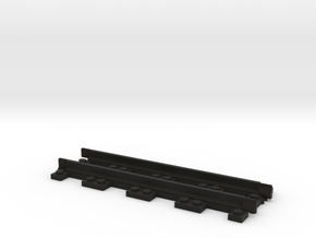 Narrow Gauge Straight in Black Natural Versatile Plastic